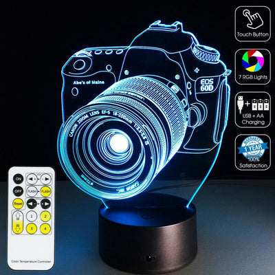 3D Camera LED Illusion Lamp Multiple Colors - 3D Led Lamps
