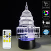 3D White House LED Lamp - 3D Led Lamps