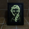 3D Princess LED Photo Frame Lamp - 3D Led Lamps