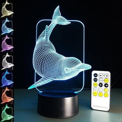 Dolphin 3D LED Illusion Lamp - 3D Led Lamps