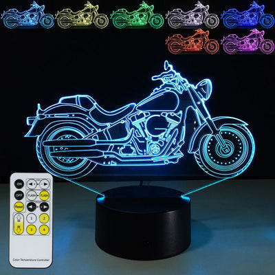 3D Motorbike LED Lamp - 3D Led Lamps