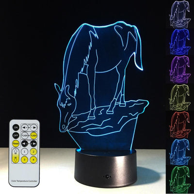 3D Horse Illusion Lamp - 3D Led Lamps