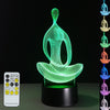 3D Sit-in Yoga Illusion Lamp Plus Free Sakyamuni Buddha LED Plate - 3D Led Lamps