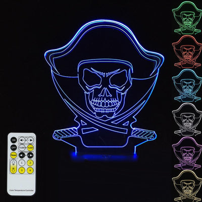 3D Pirate Illusion Lamp - 3D Led Lamps