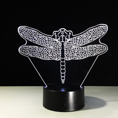 3D Dragonfly Illusion LED Lamp - 3D Led Lamps