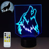 3D Howling Wolf Illusion LED Lamp - 3D Led Lamps