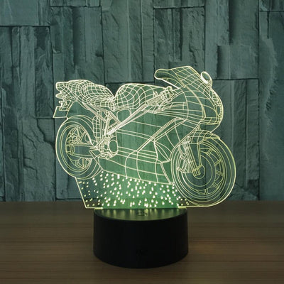 3D Autobicycle Scooter Illusion LED Lamp Multiple Colors - 3D Led Lamps