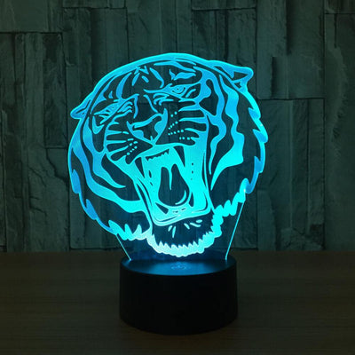 3D Roaring Tiger Illusion LED Lamp - 3D Led Lamps