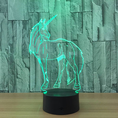 3D Unicorn Illusion LED Lamp - 3D Led Lamps