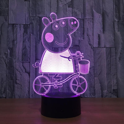 3D Peppa Pig Illusion LED Lamp - 3D Led Lamps