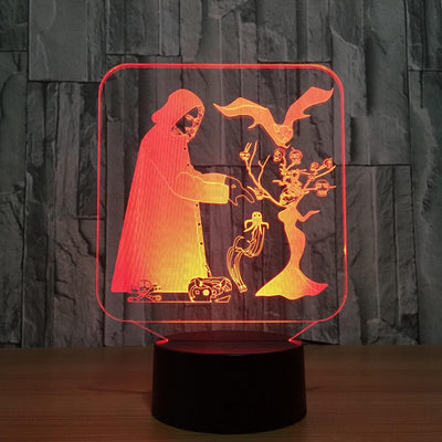 3D Skulls Ghost Illusion LED Lamp - 3D Led Lamps