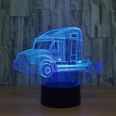 3D Trucker Head Illusion LED Lamp - 3D Led Lamps