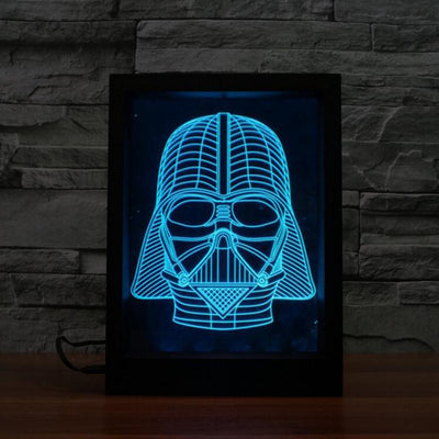 3D Warrior LED Photo Frame Lamp - 3D Led Lamps