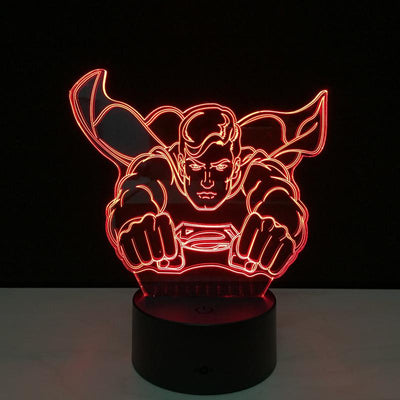 Cool Flying Superman 3D Lamp - 3D Led Lamps