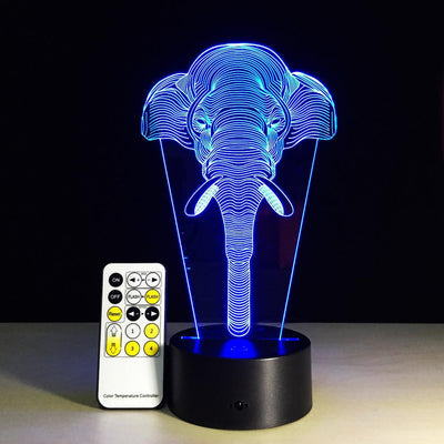 3D Elephant Illusion Lamp - 3D Led Lamps