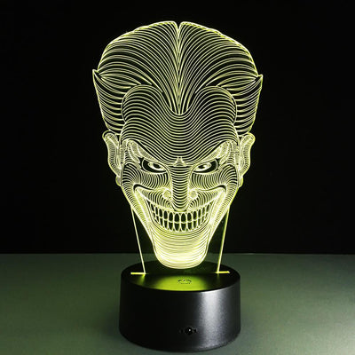 3D Joker Face LED Lamp - 3D Led Lamps
