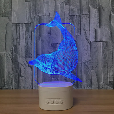 3D Bluetooth Dolphin lamp - 3D Led Lamps