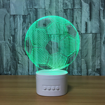 3D Bluetooth Soccer Ball lamp - 3D Led Lamps