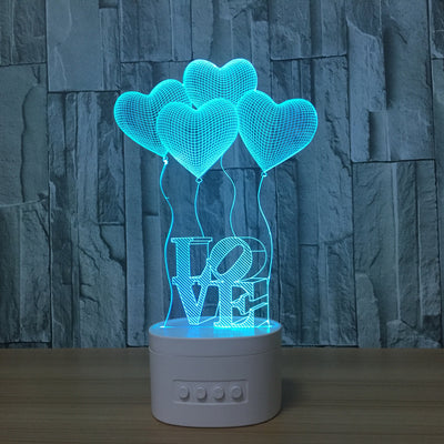 3d Bluetooth Love lamp - 3D Led Lamps