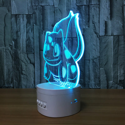 3D Bluetooth Squirtle lamp - 3D Led Lamps