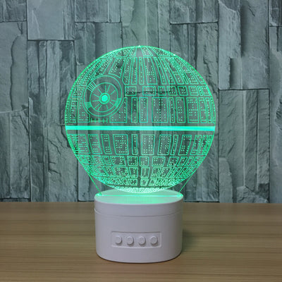 3D Bluetooth Death Star lamp - 3D Led Lamps