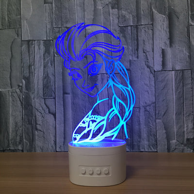 3D Bluetooth Snow Queen lamp - 3D Led Lamps