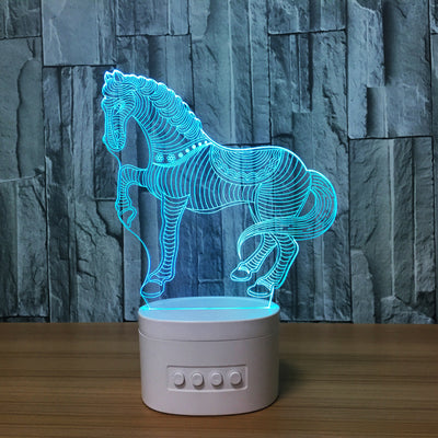 3D Bluetooth Horse lamp - 3D Led Lamps