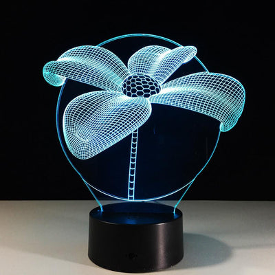 3D Flower Illusion LED Lamp - 3D Led Lamps