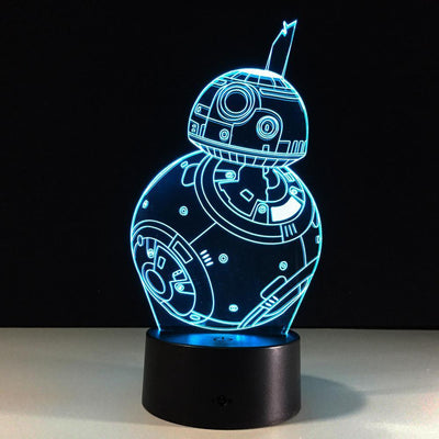 3D BB-8 Illusion Lamp - 3D Led Lamps