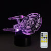 3D NCC-1701 Illusion Lamp - 3D Led Lamps