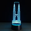 3D Petronas Towers LED Lamp - 3D Led Lamps