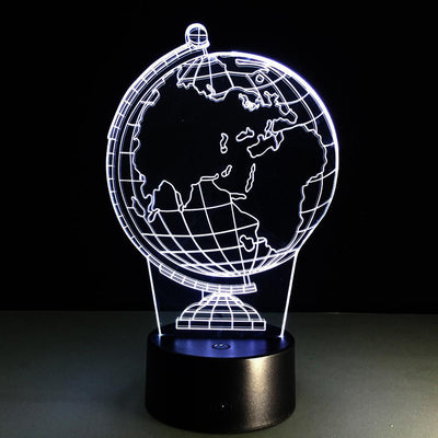 3D Tellurian Globe LED Lamp - 3D Led Lamps