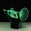 3D Trumpet Illusion Lamp - 3D Led Lamps