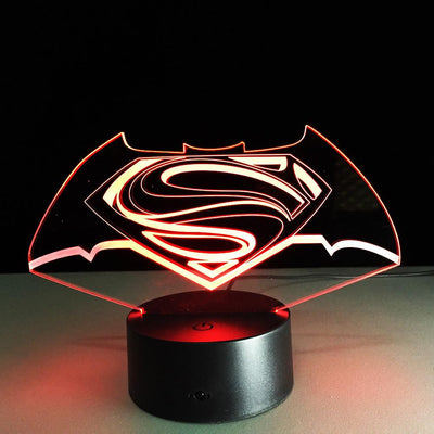 Batman VS Superman 3D LED Lamp - 3D Led Lamps