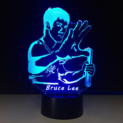 3D Bruce Lee Illusion LED Lamp - 3D Led Lamps