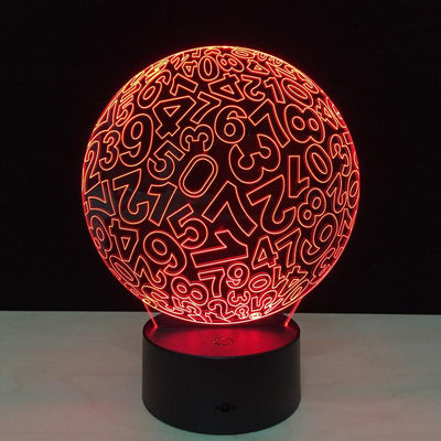 Digital Ball 3D LED Lamp - 3D Led Lamps