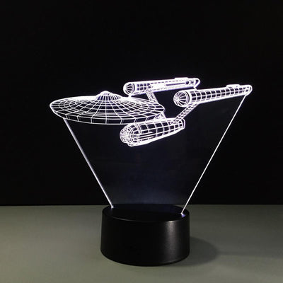 3D USS Enterprise Illusion Lamp - 3D Led Lamps