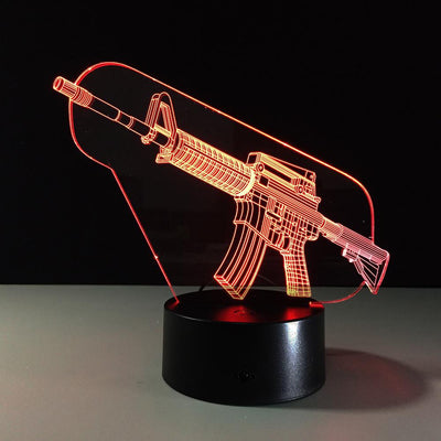 3D Gun Illusion Lamp - 3D Led Lamps