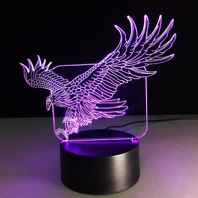 3D Eagle LED Lamp - 3D Led Lamps