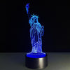 3D Lady Liberty LED Lamp - 3D Led Lamps