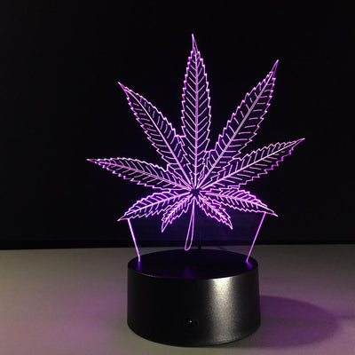 3D Leaf Lamp Illusion Light - 3D Led Lamps