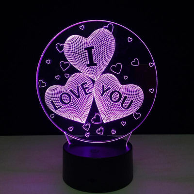 Love Inspired 3D LED Lamp Kit Set Of 4 - 3D Led Lamps