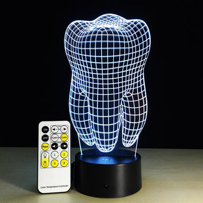 3D Tooth LED Lamp - 3D Led Lamps
