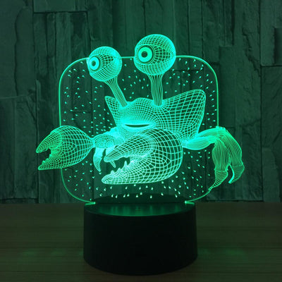 3D Illusion Crab LED Lamp - 3D Led Lamps