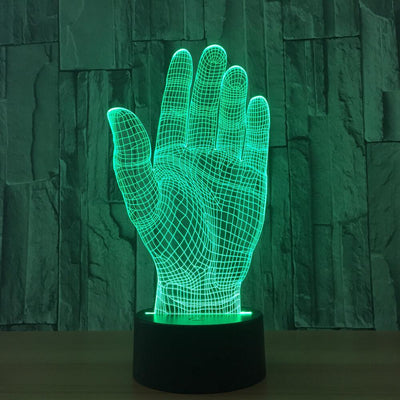 3D Hand Palm Illusion LED Lamp - 3D Led Lamps