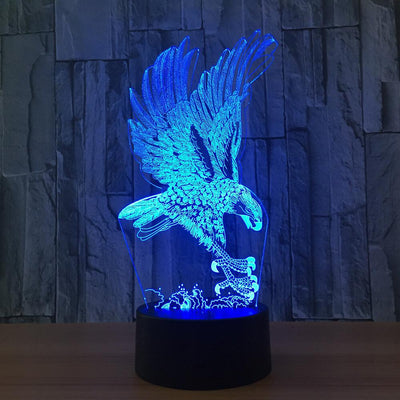 3D Illusion Hunting Eagle LED Lamp - 3D Led Lamps