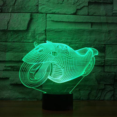 3D Futuristic Motorbike Illusion LED Lamp - 3D Led Lamps