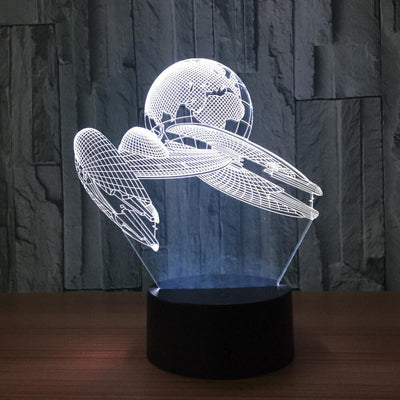 3D Illusion Spaceship Earth LED Lamp - 3D Led Lamps