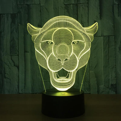 3D Illusion Tiger Head LED Lamp - 3D Led Lamps