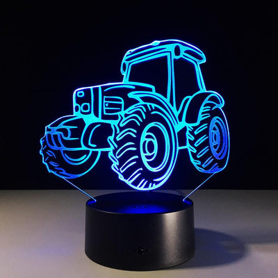 3D Tractor Illusion LED Lamp Multiple Colors - 3D Led Lamps